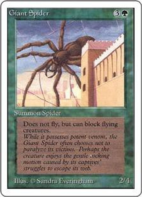 MtG Unlimited Common Giant Spider