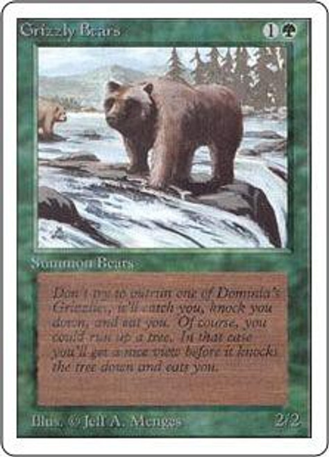 MtG Unlimited Common Grizzly Bears [Slightly Played Condition]