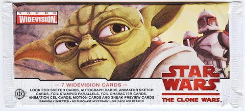 Star Wars Topps The Clone Wars Widevision Trading Card Pack