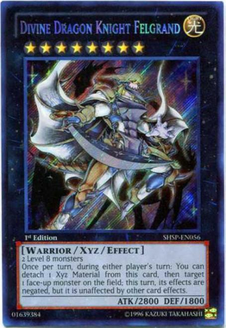 YuGiOh Trading Card Game Shadow Specters Secret Rare Divine Dragon Knight Felgrand SHSP-EN056