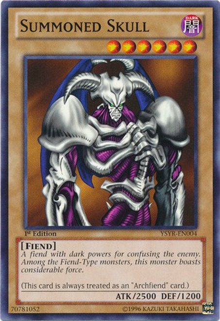 YuGiOh Trading Card Game Starter Deck: Yugi Reloaded Common Summoned Skull YSYR-EN004