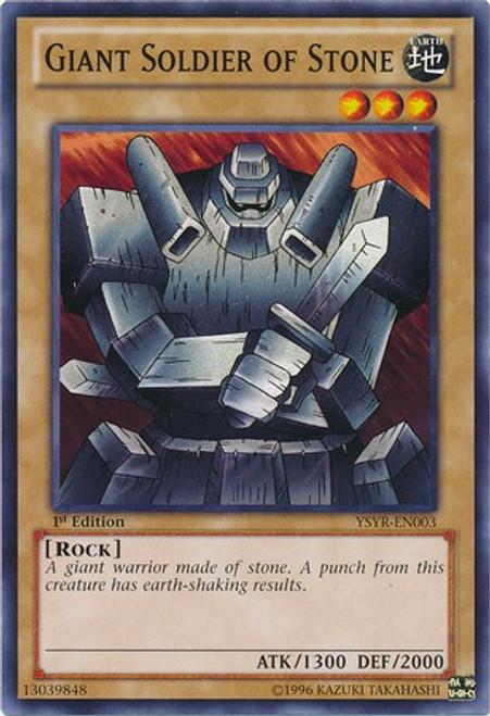 YuGiOh Trading Card Game Starter Deck: Yugi Reloaded Common Giant Soldier of Stone YSYR-EN003
