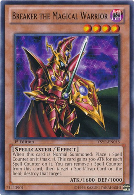 YuGiOh Trading Card Game Starter Deck: Yugi Reloaded Common Breaker the Magical Warrior YSYR-EN015