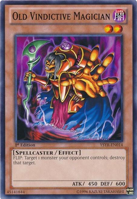 YuGiOh Trading Card Game Starter Deck: Yugi Reloaded Common Old Vindictive Magician YSYR-EN014