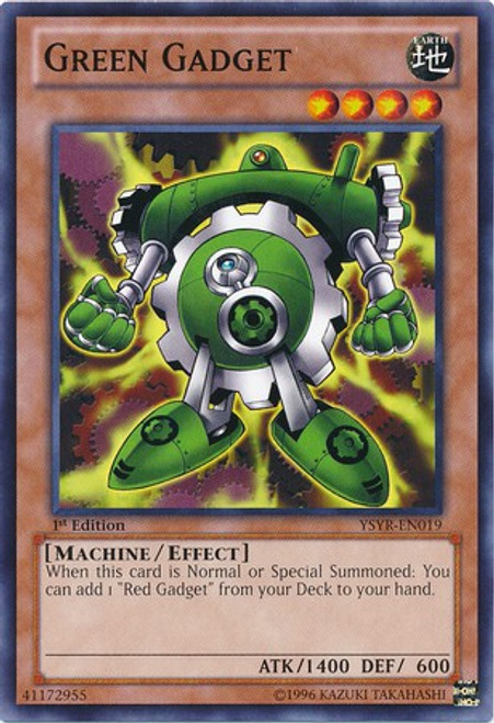 YuGiOh Trading Card Game Starter Deck: Yugi Reloaded Common Green Gadget YSYR-EN019