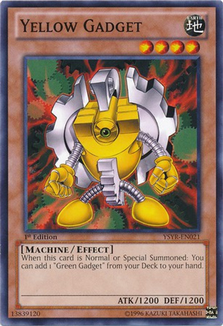 YuGiOh Trading Card Game Starter Deck: Yugi Reloaded Common Yellow Gadget YSYR-EN021
