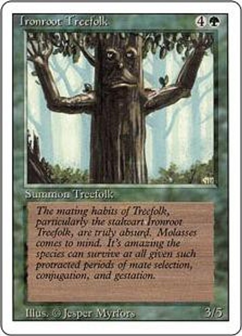 MtG Revised Common Ironroot Treefolk