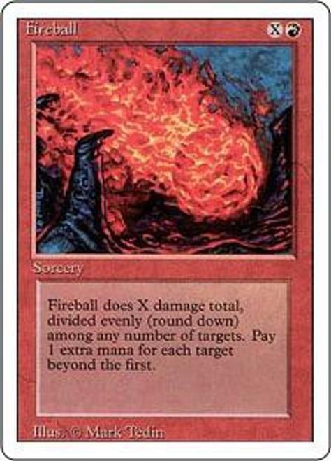 MtG Revised Common Fireball