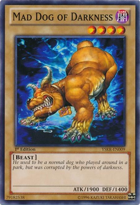YuGiOh Trading Card Game Starter Deck: Kaiba Reloaded Common Mad Dog of Darkness YSKR-EN009