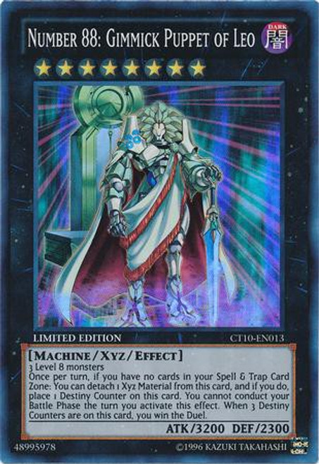 YuGiOh Holiday Tin Promo Super Rare Number 88: Gimmick Puppet of Leo CT10-EN013