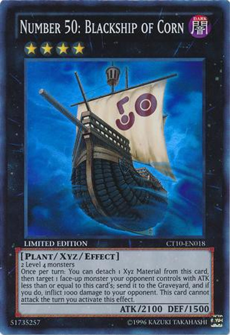 YuGiOh Holiday Tin Promo Super Rare Number 50: Blackship of Corn CT10-EN018