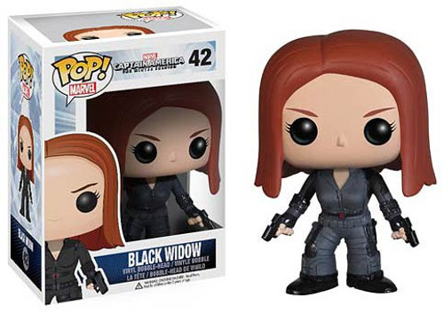 Funko Captain America: The Winter Soldier POP! Marvel Black Widow Vinyl Bobble Head #42