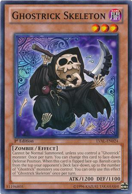 YuGiOh Trading Card Game Legacy of the Valiant Common Ghostrick Skeleton LVAL-EN024