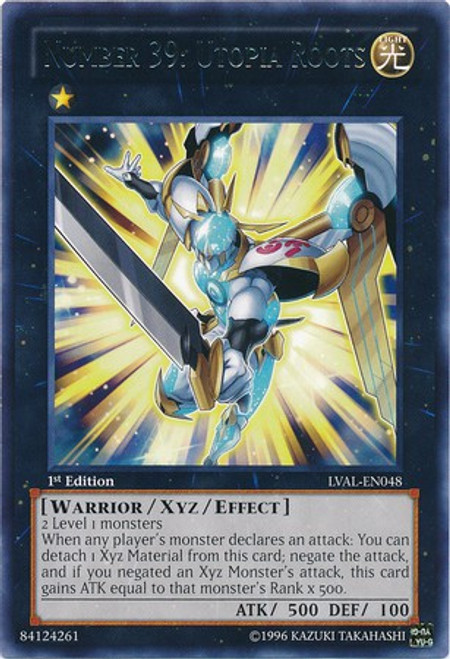 YuGiOh Trading Card Game Legacy of the Valiant Rare Number 39: Utopia Roots LVAL-EN048