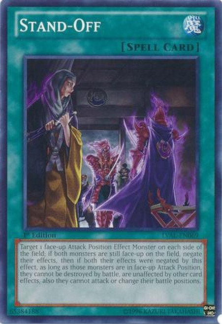 YuGiOh Trading Card Game Legacy of the Valiant Common Stand-off LVAL-EN069