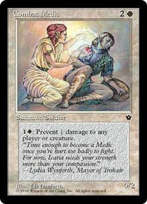 MtG Fallen Empires Common Combat Medic [RANDOM Artwork]