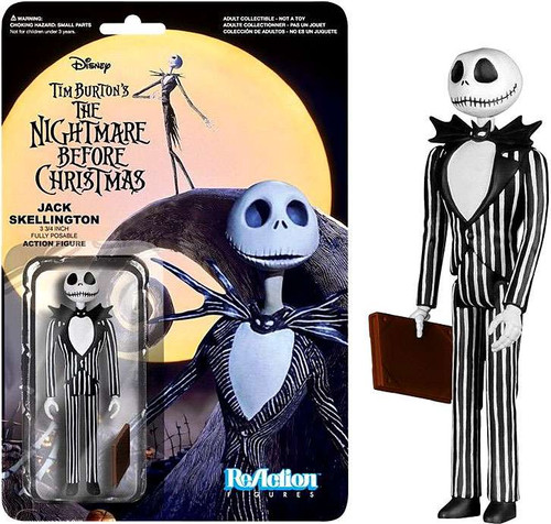 Funko Nightmare Before Christmas ReAction Jack Skellington Action Figure [Straight Mouth]