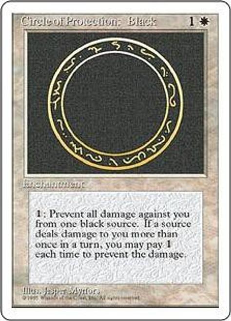 MtG 4th Edition Common Circle of Protection: Black