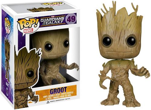 Funko Guardians of the Galaxy POP! Marvel Groot Vinyl Bobble Head #49