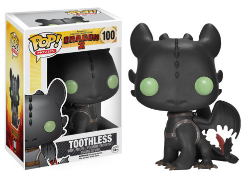 Funko How to Train Your Dragon 2 POP! Movies Toothless Vinyl Figure #100