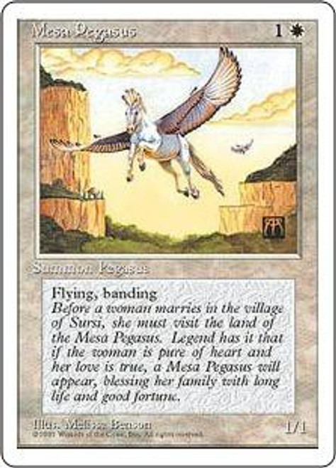 MtG 4th Edition Common Mesa Pegasus
