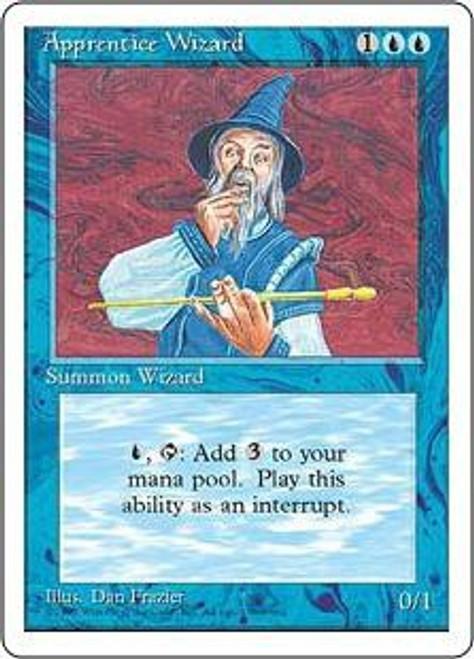 MtG 4th Edition Common Apprentice Wizard