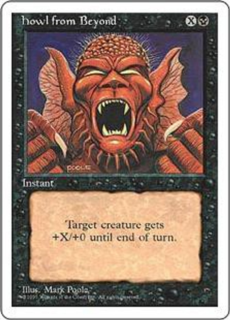 MtG 4th Edition Common Howl from Beyond