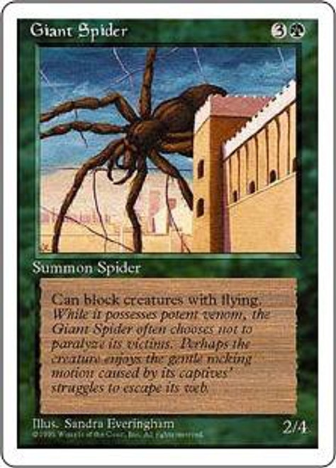 MtG 4th Edition Common Giant Spider