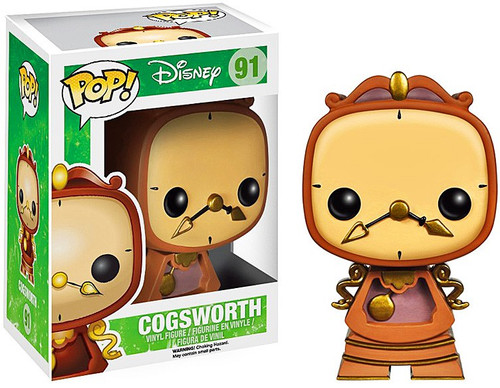 Funko Beauty and the Beast POP! Disney Cogsworth Vinyl Figure #91 [Animated Version]