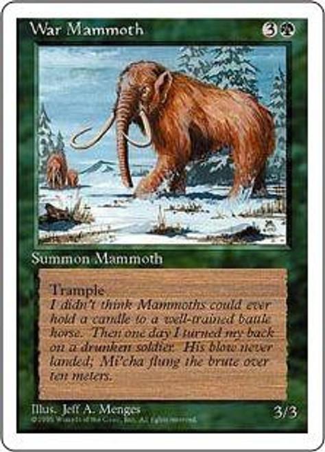 MtG 4th Edition Common War Mammoth