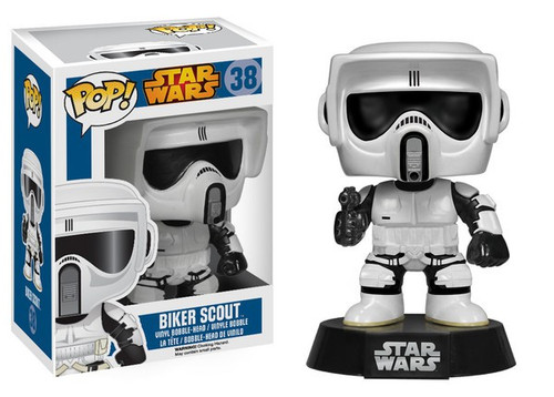 Funko POP! Star Wars Biker Scout Vinyl Bobble Head #38