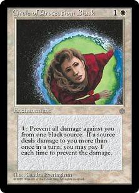 MtG Ice Age Common Circle of Protection: Black
