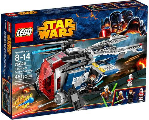 LEGO Star Wars The Clone Wars Coruscant Police Gunship Set #75046