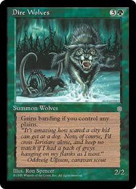MtG Ice Age Common Dire Wolves