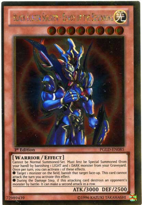 YuGiOh Premium Gold Gold Rare Black Luster Soldier - Envoy of the Beginning PGLD-EN085