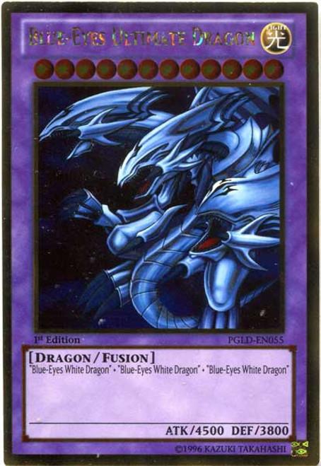 YuGiOh Premium Gold Gold Rare Blue-Eyes Ultimate Dragon PGLD-EN055