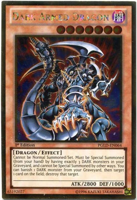 YuGiOh Premium Gold Gold Rare Dark Armed Dragon PGLD-EN064