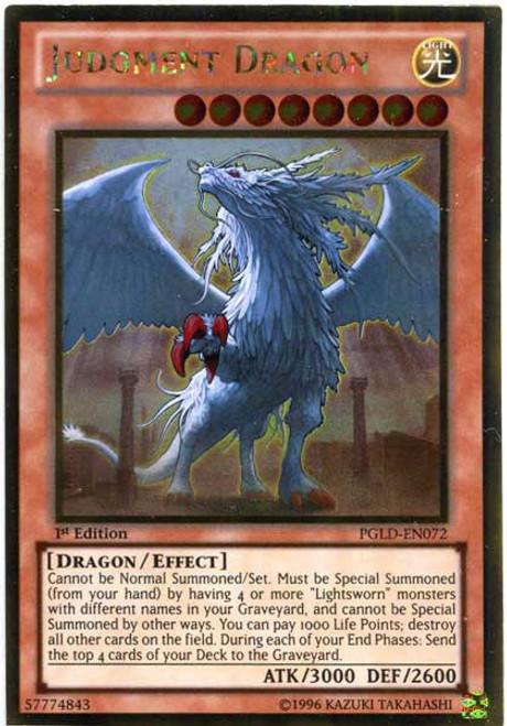 YuGiOh Premium Gold Gold Rare Judgment Dragon PGLD-EN072