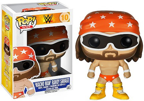 Funko WWE Wrestling POP! Sports Macho Man Randy Savage Vinyl Figure #10 [Orange Trunks]