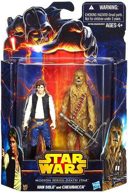 Star Wars A New Hope Mission Series Han Solo & Chewbacca Action Figure 2-Pack MS07