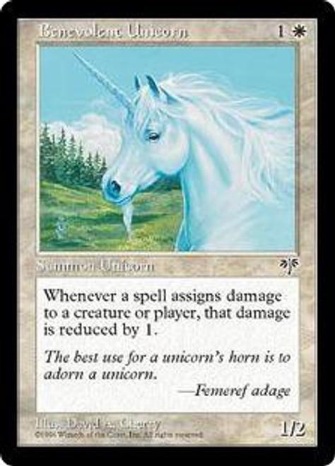 MtG Mirage Common Benevolent Unicorn