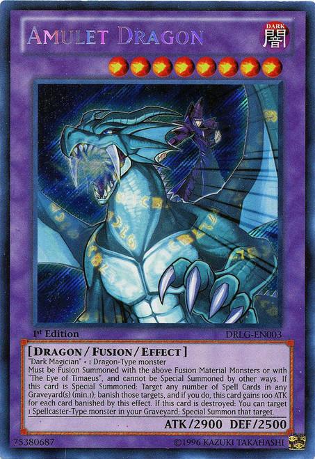YuGiOh Dragons of Legend Secret Rare Amulet Dragon DRLG-EN003