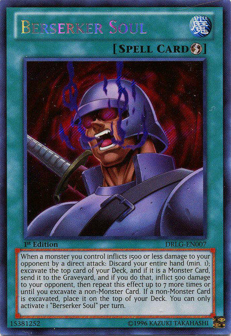 YuGiOh Dragons of Legend Secret Rare Berserker Soul DRLG-EN007