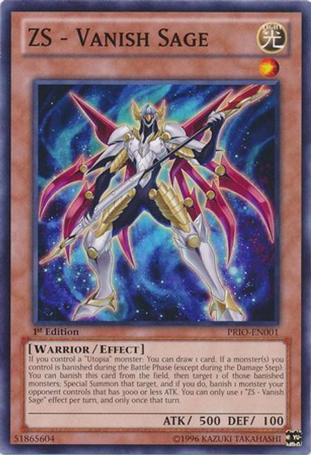 YuGiOh Trading Card Game Primal Origin Common ZS - Vanish Sage PRIO-EN001