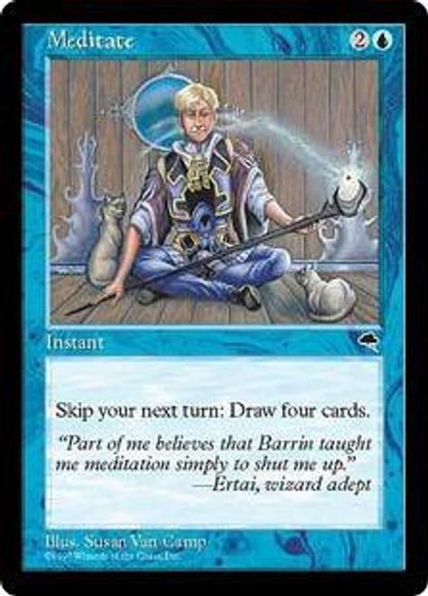 MtG Tempest Rare Meditate [Played]