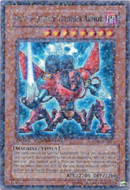 YuGiOh YuGiOh 5D's Duel Terminal 2 Parallel Rare Ally of Justice Thunder Armor DT02-EN027