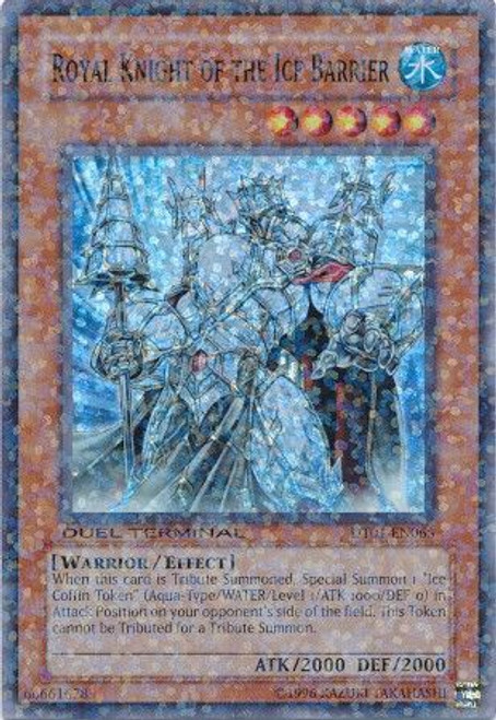 YuGiOh YuGiOh 5D's Duel Terminal 1 Parallel Rare Royal Knight of the Ice Barrier DT01-EN065