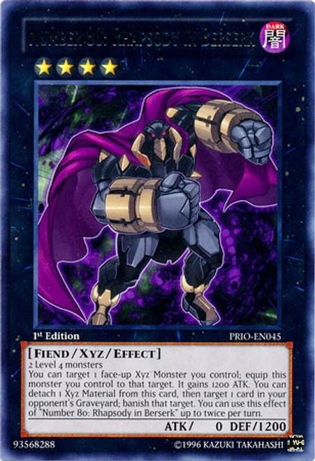 YuGiOh Trading Card Game Primal Origin Rare Number 80: Rhapsody in Berserk PRIO-EN045