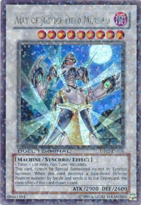 YuGiOh 5D's Duel Terminal 2 Parallel Rare Ally of Justice Field Marshal DT02-EN036