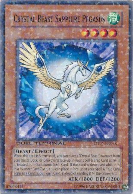 YuGiOh YuGiOh 5D's Duel Terminal 1 Parallel Rare Crystal Beast Sapphire Pegasus DT01-EN058